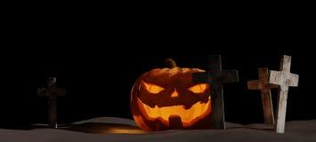 Calabaza 3d-illustration de Halloween imagen de archivo libre de regalías