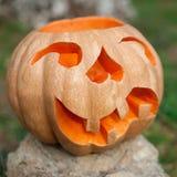 Calabaza de Halloween al aire libre Imagenes de archivo