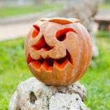 Calabaza de Halloween al aire libre Imagen de archivo libre de regalías