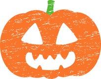 Calabaza de Halloween del Grunge Fotografía de archivo