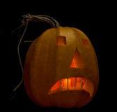 Calabaza de Halloween en negro Foto de archivo