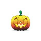 Calabaza de Halloween y ojos asustadizos Imagenes de archivo