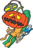 Calabaza de Hallowen en dentista Imagen de archivo libre de regalías
