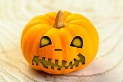 Calabaza de la naranja de Halloween Fotografía de archivo libre de regalías