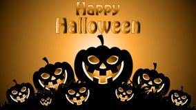 Calabaza del parpadeo para Halloween stock de ilustración
