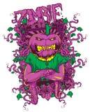 Calabaza del zombi stock de ilustración