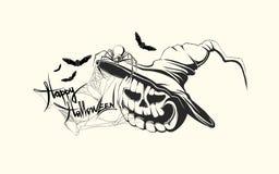 Calabaza dibujada mano de Halloween stock de ilustración