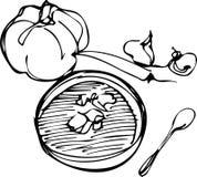 Calabaza en el fondo blanco Imagen de archivo libre de regalías