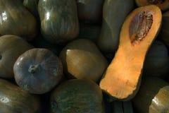 Calabaza fresca Verduras alimento dietético Vehículos para cocinar Imagenes de archivo