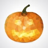 Calabaza geométrica abstracta de Halloween - ejemplo del vector Fotografía de archivo libre de regalías