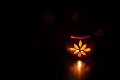 Calabaza iluminada Imagen de archivo