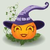 Calabaza linda de Halloween, vector Imágenes de archivo libres de regalías