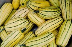 Calabaza orgánica para la venta en el mercado al aire libre Imagen de archivo
