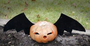 Calabaza para celebrar Halloween imagen de archivo