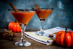 Calabaza picante martini del otoño imagen de archivo libre de regalías
