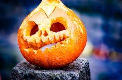 Calabaza realmente asustadiza de Halloween Imagenes de archivo
