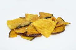 Calabaza secada en el fondo - comida sana de la legumbre de frutas imagenes de archivo