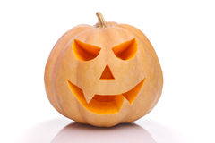Calabaza sonriente de Halloween imagen de archivo libre de regalías