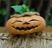 Calabaza sonriente de Helloween Imágenes de archivo libres de regalías