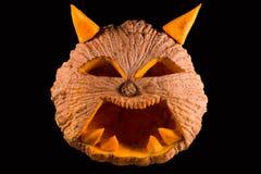 Calabaza tallada de víspera de Todos los Santos Fotos de archivo