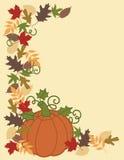 Calabaza y frontera de las hojas ilustración del vector