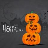 Calabazas asustadizas para la celebración de Halloween Fotografía de archivo