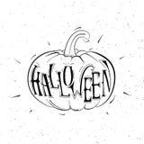 Calabazas blancos y negros del vector para Halloween Foto de archivo libre de regalías