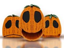 calabazas de 3d Halloween Fotografía de archivo libre de regalías