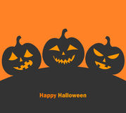 Calabazas de Halloween de la linterna del o de Jack Fotografía de archivo libre de regalías