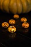 Calabazas de Halloween del otoño Fotos de archivo libres de regalías