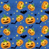 Calabazas de Halloween inconsútiles stock de ilustración