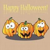 Calabazas de Halloween - tarjeta del día de fiesta libre illustration