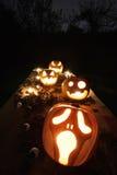 Calabazas de la Jack-o-linterna de Halloween Fotos de archivo