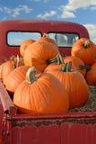 Calabazas de la parte posterior de la camioneta pickup Fotos de archivo libres de regalías