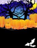 Calabazas en un bosque denso ilustración del vector