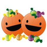 Calabazas felices para Halloween stock de ilustración