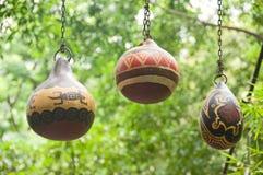 Calabazas secadas pintadas Imagen de archivo