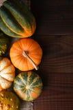 Calabazas y calabazas del otoño Fotografía de archivo libre de regalías