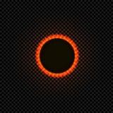 Calabozo del vector, aislado en el fondo oscuro que brilla Ilustration, círculo negro ilustración del vector