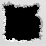 Calabozo oscuro roto explosión de la pared blanca Backgr de la arquitectura libre illustration