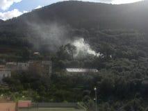 Calabrië Incendio Stock Afbeeldingen