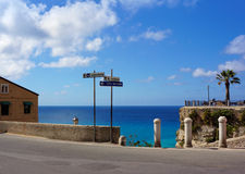 Calabria, cidade de Tropea Foto de Stock