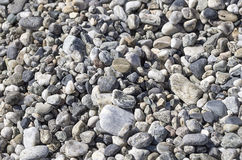 CALABRIA: DETAIL OF BEACH OF PEBBLES Royalty Free Stock Photos