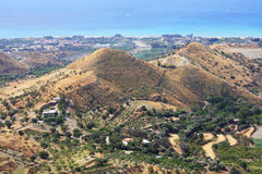 Calabria landscape. In summer, aerial view Stock Images