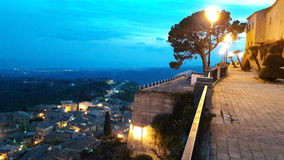 Calabria nights. Landscape of Gerace in Calabria Italia Sud stock photography