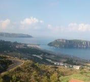 Calabria southitaly, widok od wzgórzy Zdjęcia Royalty Free
