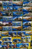 Calabria Tropea. Fridge magnets with photos of calabria and tropea classic souvenir of the trip royalty free stock images