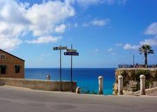 Calabria Tropea stad Arkivfoto