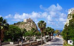 Calabria Tropea stad Arkivbilder