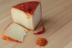 Calabrian cheese with chili. royalty free stock image
